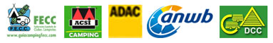 Recomendado por las mejores guías de campismo europeas: FECC //ACSI // ANWB // ADAC // DCC